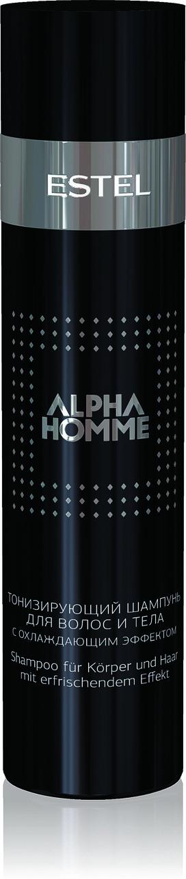 Тонизирующий шампунь для волос и тела с охлаждающим эффектом ALPHA HOMME, 250ml