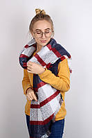 Плотные шарфы Фюжен, марсала синий