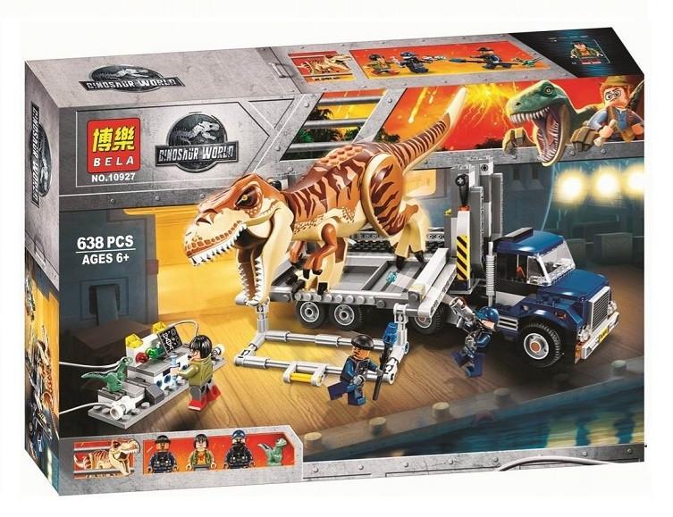 Конструктор Bela 10927 Транспорт для перевозки Ти-Рекса Мир Юрского периода (аналог Lego Jurassic World 75933)