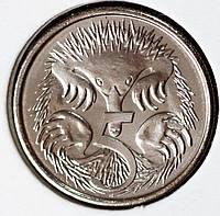 Монета Австралии 5 центов 2016 г. Пруф из набора , фото 1