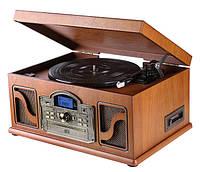 Деревянный Грамофон Проигрыватель Lauson CL146 Радио CD USB Mp3 SD  + Пульт, фото 1