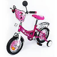 Детский двухколесный велосипед 12 дюймов  Мини Маус