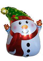 Фольгированный шар Снеговик с шарфиком 50см