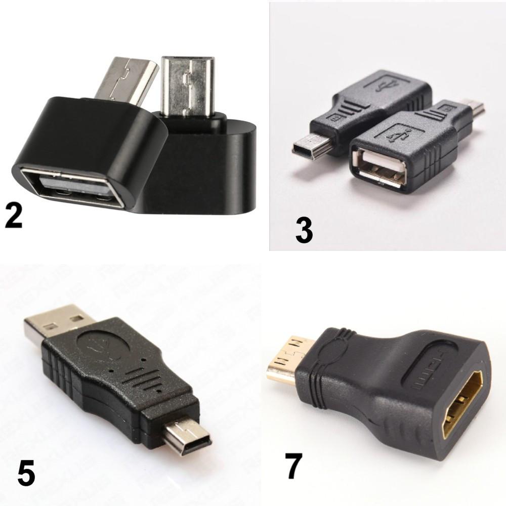Переходники OTG Micro USB к USB, Mini USB к USB, HDMI к miniHDMI