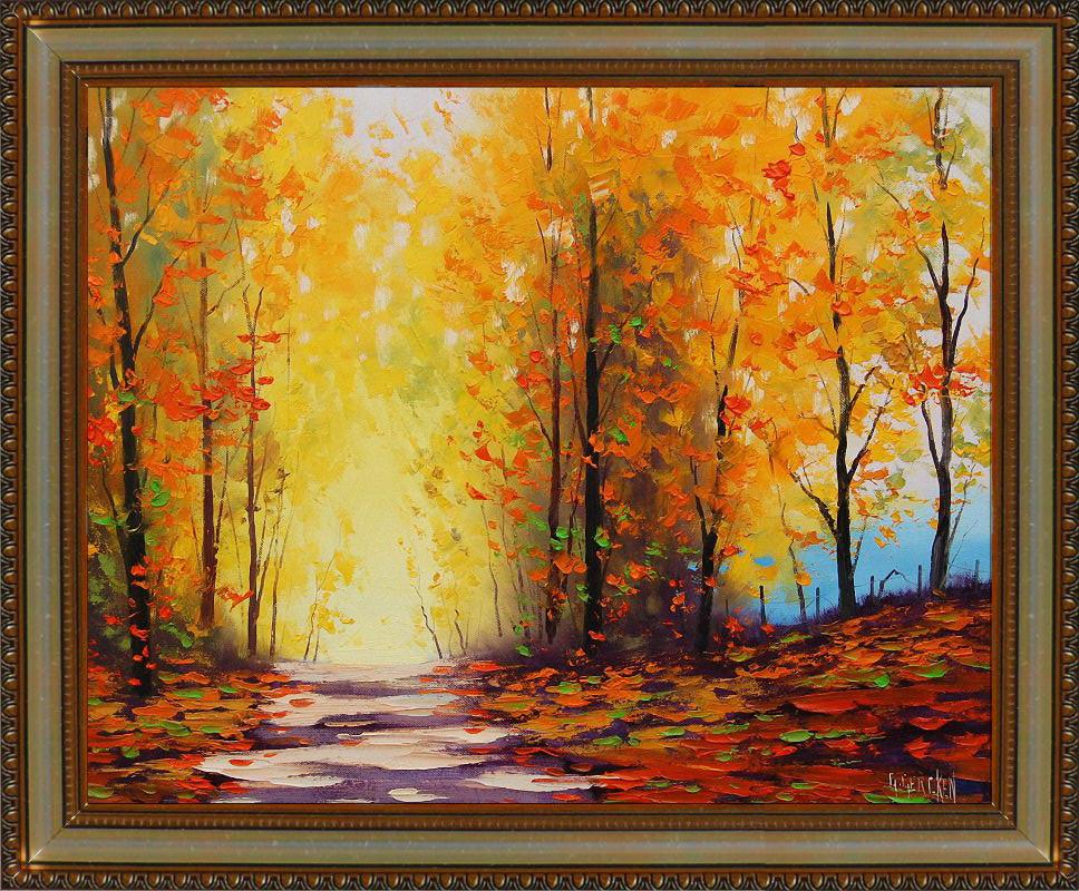 Репродукция  современной картины  «Голубая осень IV» 28 х 35 см