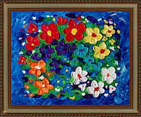 Репродукция  современной картины  «Цветочная фантазия III» 28 х 35 см