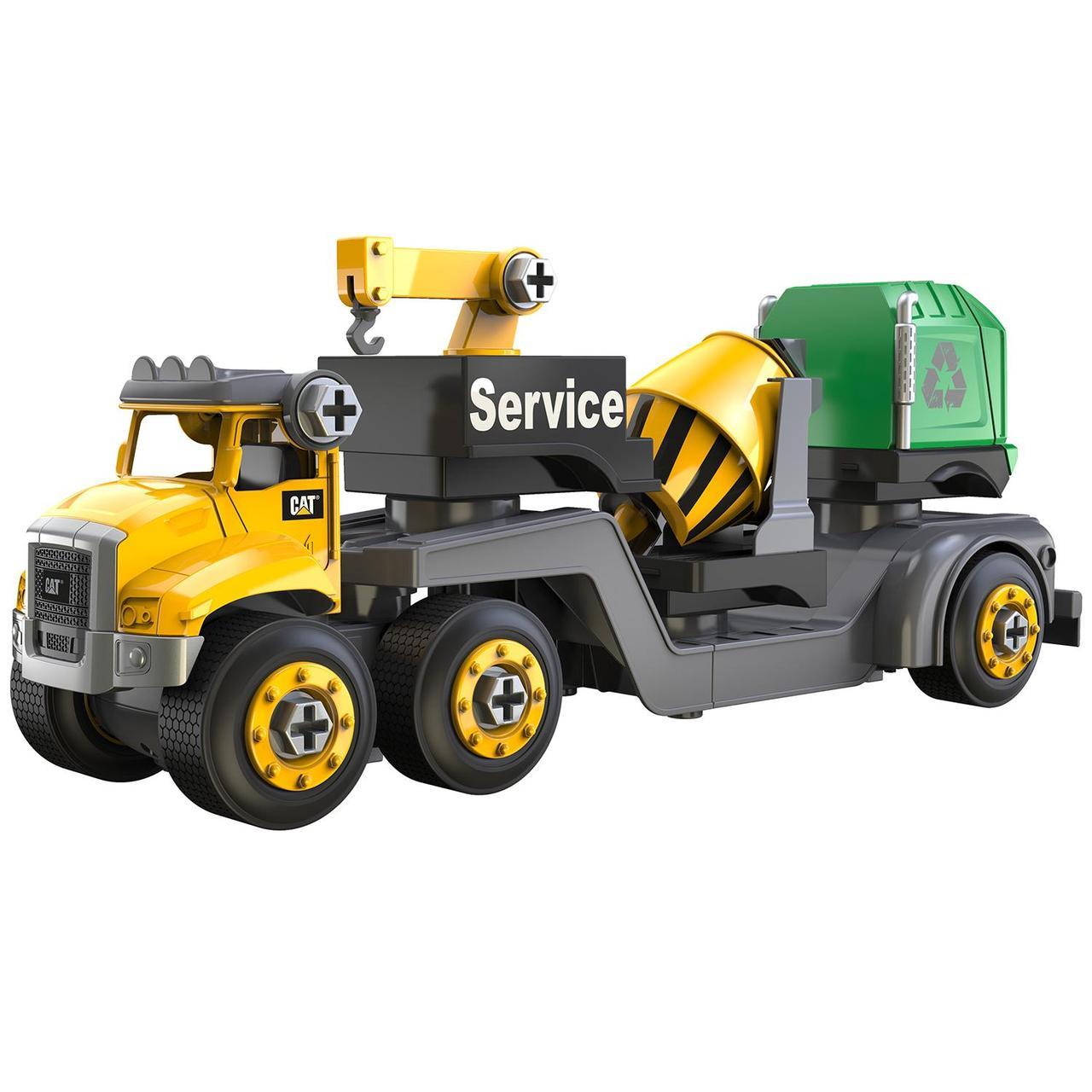 CAT Игрушка-конструктор  Юный Механик Автомобиль многофункциональный грузовой 80920