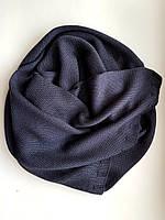 Кашемировый шарф knitted Chadrin графит мужской, фото 1