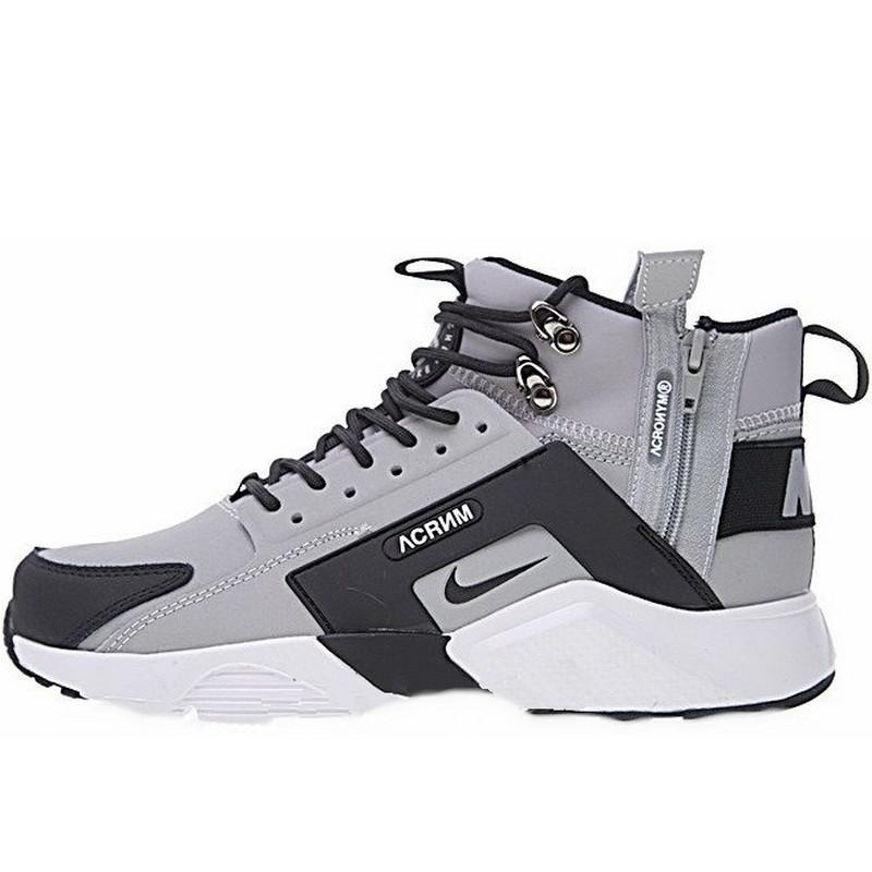 bce5d1bdc Кроссовки мужские Nike Air Huarache ACRONYM (серые-черные) зимние (Top  replic)