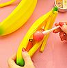Оригинальный школьный силиконовый пенал банан , фото 3