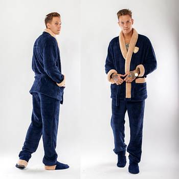 Теплый мужской костюм для дома р.50-54