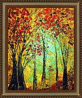 """Репродукция  современной картины  """"Это мой гранатовый лес"""" 28 х 35 см"""