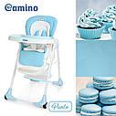 Стільчик для годування El Camino ME 1001-12 «PUNTO», блакитний, фото 2