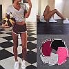 Женские короткие шорты для фитнеса 003, красные