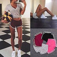 Женские короткие шорты для фитнеса 003, красные, фото 1