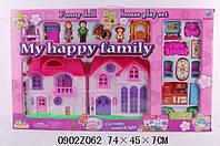 Домик кукольный, с семьей, мебелью, собачкой / roy - 8032