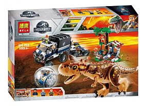 Конструктор Bela 10926 Побег в гиросфере от Карнотавра. Мир Юрского периода (аналог Lego Jurassic World 75929)