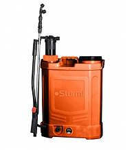 Аккумуляторный опрыскиватель с ручной подкачкой (2в1) Sturm GS8216BM