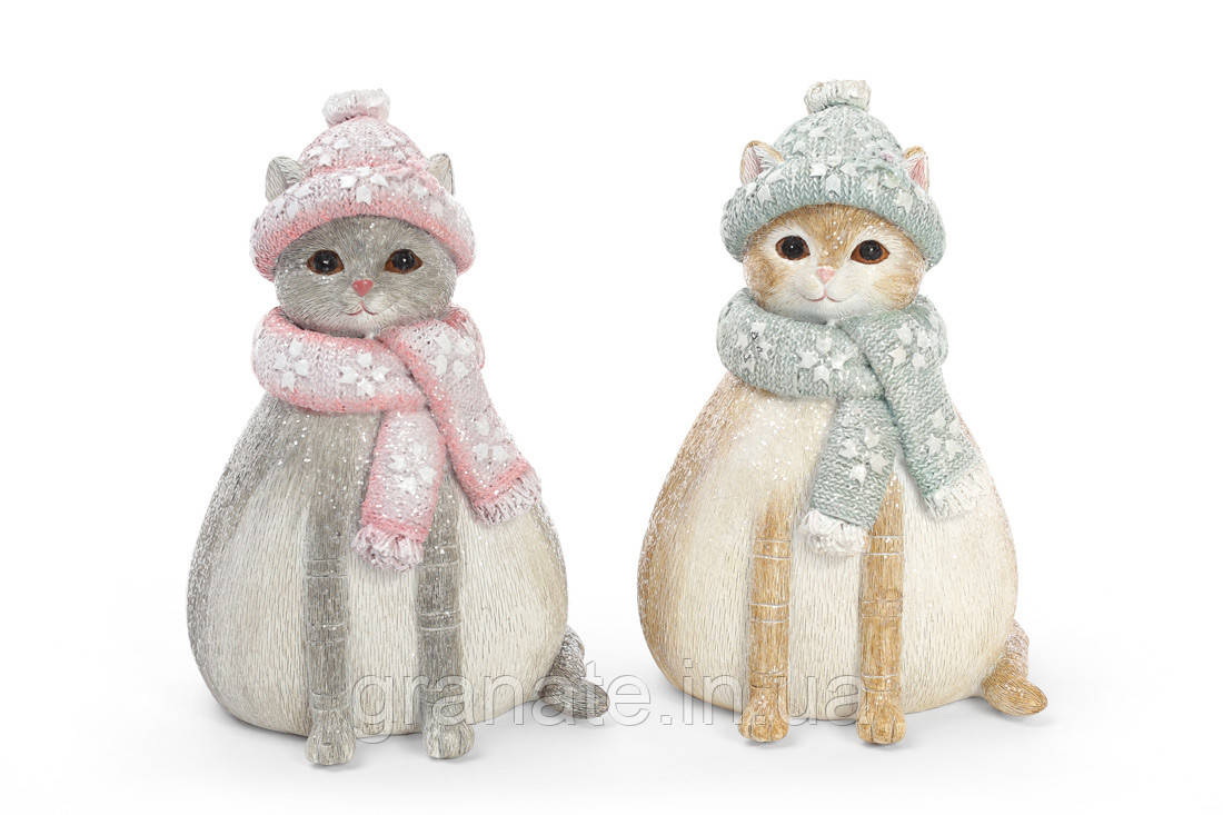 "Статуэтка - копилка, фигура ""Кошка"" 14 см, 2 вида(2шт)"
