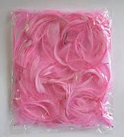 Перья для декора натуральные, розовые , 12 грамм