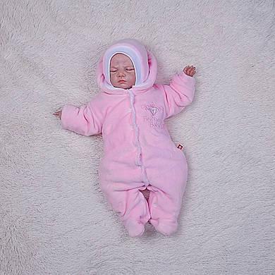 Комбинезон Brilliant Baby на махре (розовый)