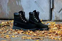 Ботинки женские Timberland Classic Boots (черные) МЕХ! Top replic, фото 2