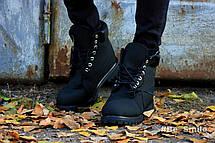 Ботинки женские Timberland Classic Boots (черные) МЕХ! Top replic, фото 3