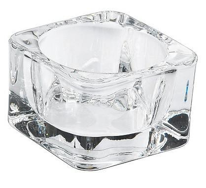 Стеклянный подсвечник для чайной свечи