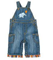 Детский джинсовый полукомбинезон  12-18  месяцев, фото 1