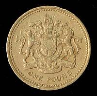 Монета Великобритании 1 фунт 1983 г., фото 1