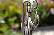 Серебряные серьги - подвески c агатом турителла, фото 2