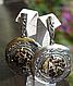 Серебряные серьги - подвески c агатом турителла, фото 3