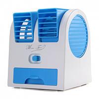 Вентилятор охладитель и увлажнитель воздуха  USB и батарейки портативный Fan