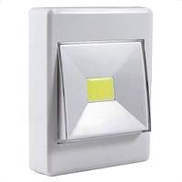 Світлодіодний світильник LED нічник вимикач на батарейках 3W