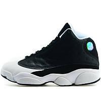 d233abd3d Кроссовки мужские Nike Air Jordan 13 Retro (черные-белые) Top replic