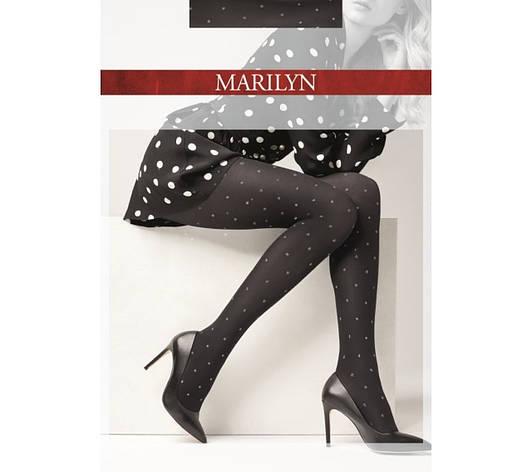 Фантазийные колготки Marilyn Emmy N 21 в горошек из люрекса, фото 2