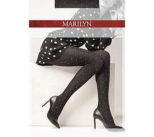 Фантазийные колготки Marilyn Emmy N 21 в горошек из люрекса