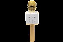 Безпровідний мікрофон караоке з динаміком в чохлі Bluetooth USB Q7 Золотий