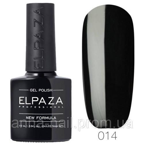 Гель лак ELPAZA 014 Истинно чёрный, 10 мл