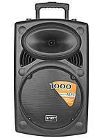 """Акустична система акумуляторна колонка 15"""" 2 радіо мікрофона USB FM UKC BT15A"""