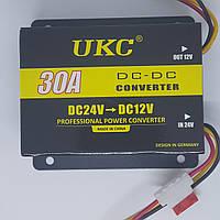 Перетворювач напруги 24 в 12 V 30А Авто інвертор UKC конвертор