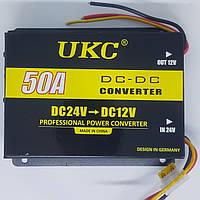 Перетворювач напруги 24 в 12 V 50А Авто інвертор UKC конвертор