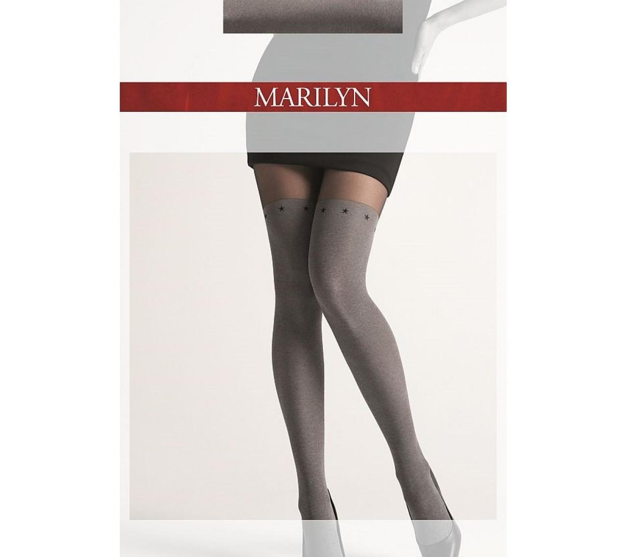 Фантазийные колготки Marilyn Zazu M11 с имитацией чулка