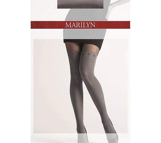 Фантазийные колготки Marilyn Zazu M11 с имитацией чулка, фото 2