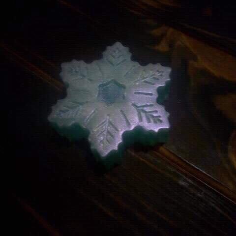 Мыло Снежинка перламутровый блеск, с маслами