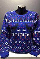 Жіночий светер з оленями новорічний   Женский свитер с оленями новогодний  свитшот для девушки 85ec388fa1b6f