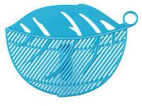 Дуршлаг насадка для слива воды из кастрюль  Голубой