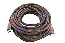 Кабель HDMI - HDMI усиленный в оплетке с фильтрами Позолоченные контакты v 1.4 шнур 10м