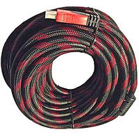 Кабель HDMI - HDMI усиленный в оплетке с фильтрами Позолоченные контакты v 1.4 шнур 15м