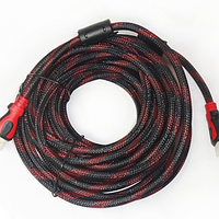 Кабель HDMI - HDMI усиленный в оплетке с фильтрами Позолоченные контакты v 1.4 шнур 20м